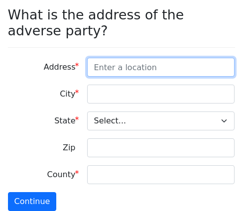 Screenshot of address-autocomplete example