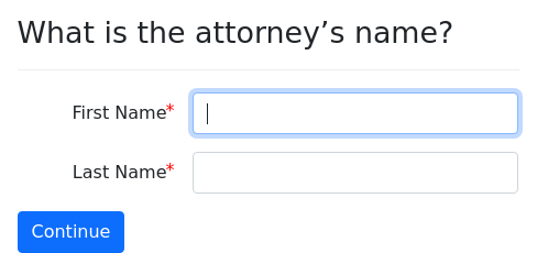 Screenshot of attorney example