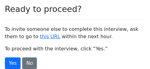 Screenshot of interview-url-temp example