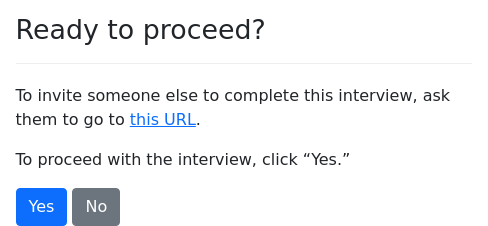 Screenshot of interview-url example