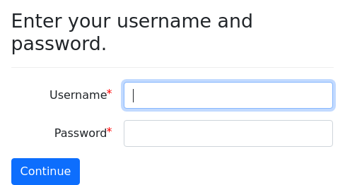 Screenshot of password-field example