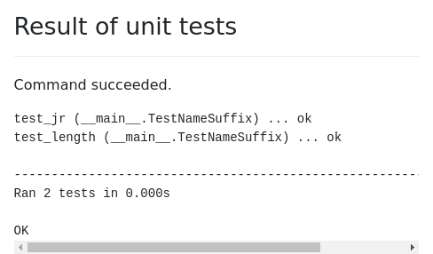 Screenshot of run-python-module-tests example