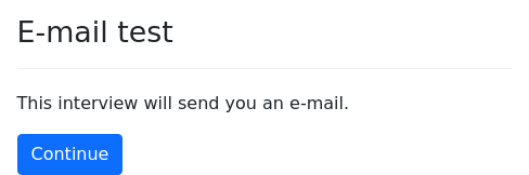 Screenshot of send-email example