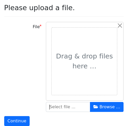 Screenshot of upload-file-size example