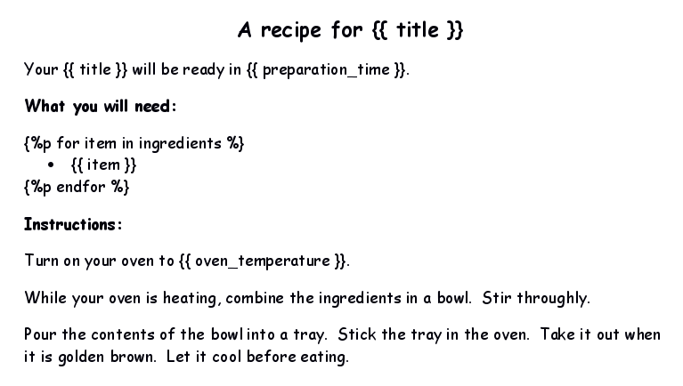 recipe template source